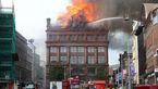 ساختمان ۲۰۰ ساله بلفست در آتش سوخت +عکس