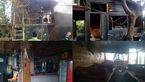 عملیات ۶ آتش نشان در پی آتش سوزی کافه سنتی در انتهای خیابان ابوذر
