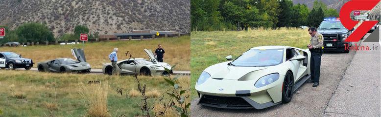 فورد جی تی هنگام آزمایش جاده ای توسط پلیس متوقف شد