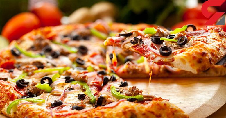 پیتزای مخصوص خانگی با عطر ریحان+دستور تهیه