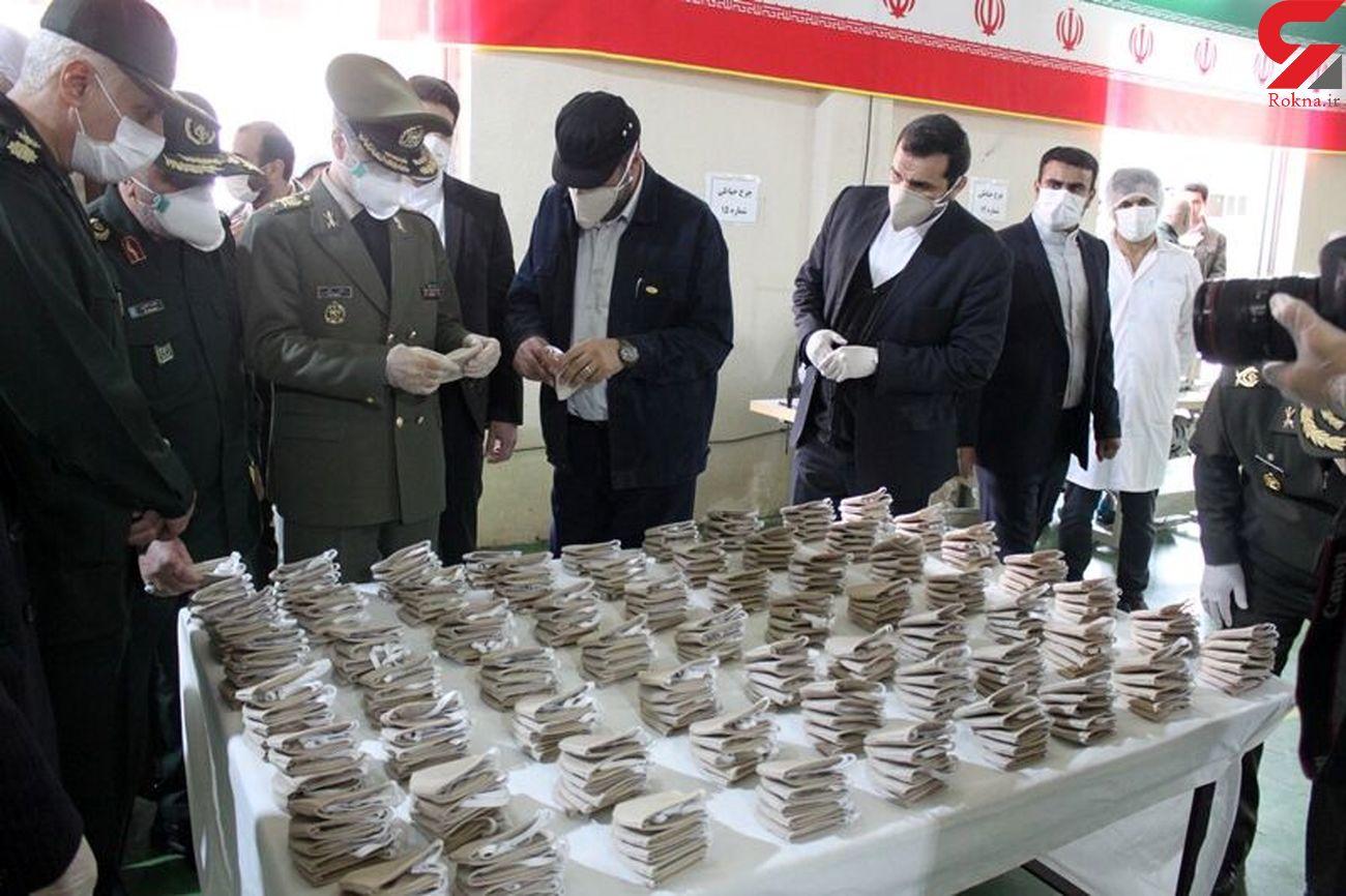 وزیر دفاع از تولید ماسکهای فیلتردار پیشرفته یونی برای اولین بار خبر داد