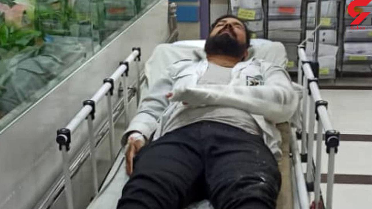مجروحیت شدید تکنسین اورژانس حین مأموریت امداد رسانی در اصفهان + عکس
