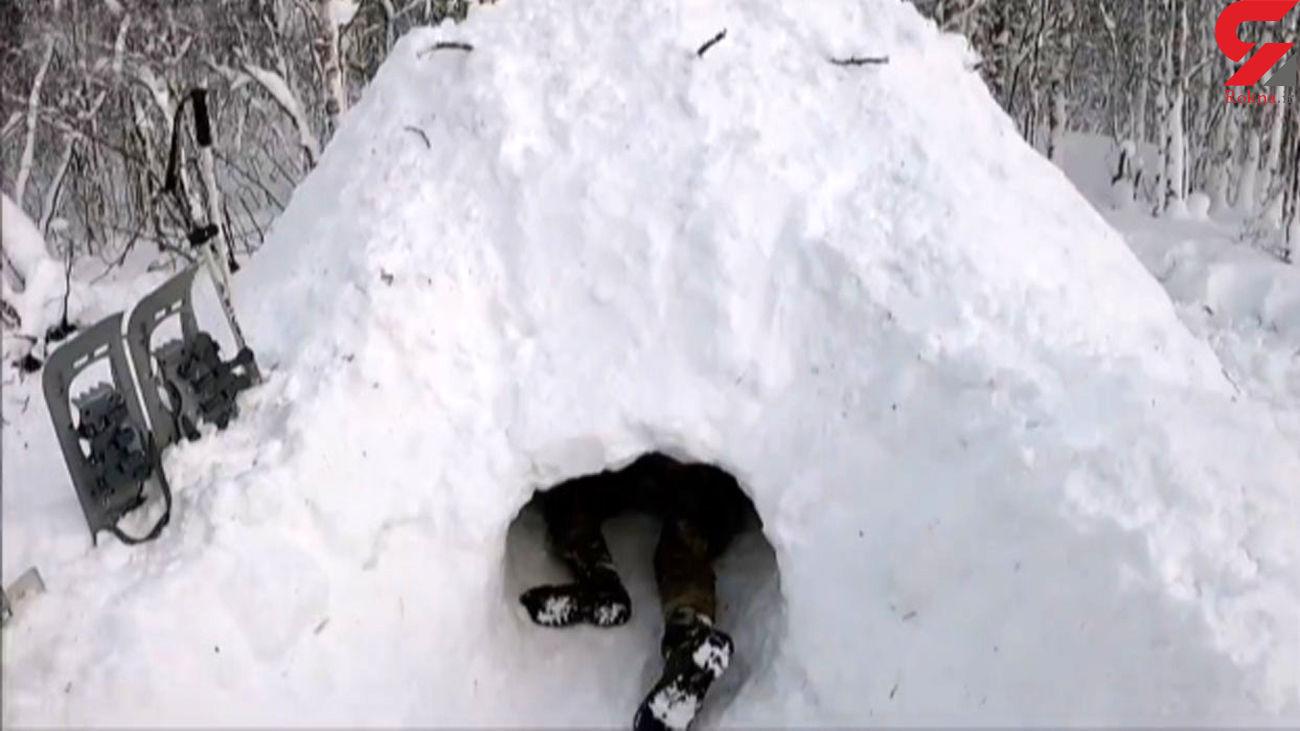 پناهگاه برفی در دل طبیعت + فیلم