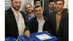 احمدی نژاد شبانه رای داد / بقایی به احمدی نژاد رای داد + فیلم و عکس