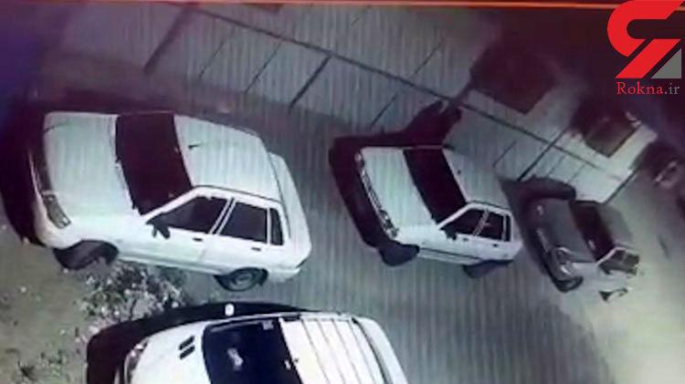 فیلم لحظه سرقت خودرو توسط یک مرد / پلیس آبادان او را می شناخت