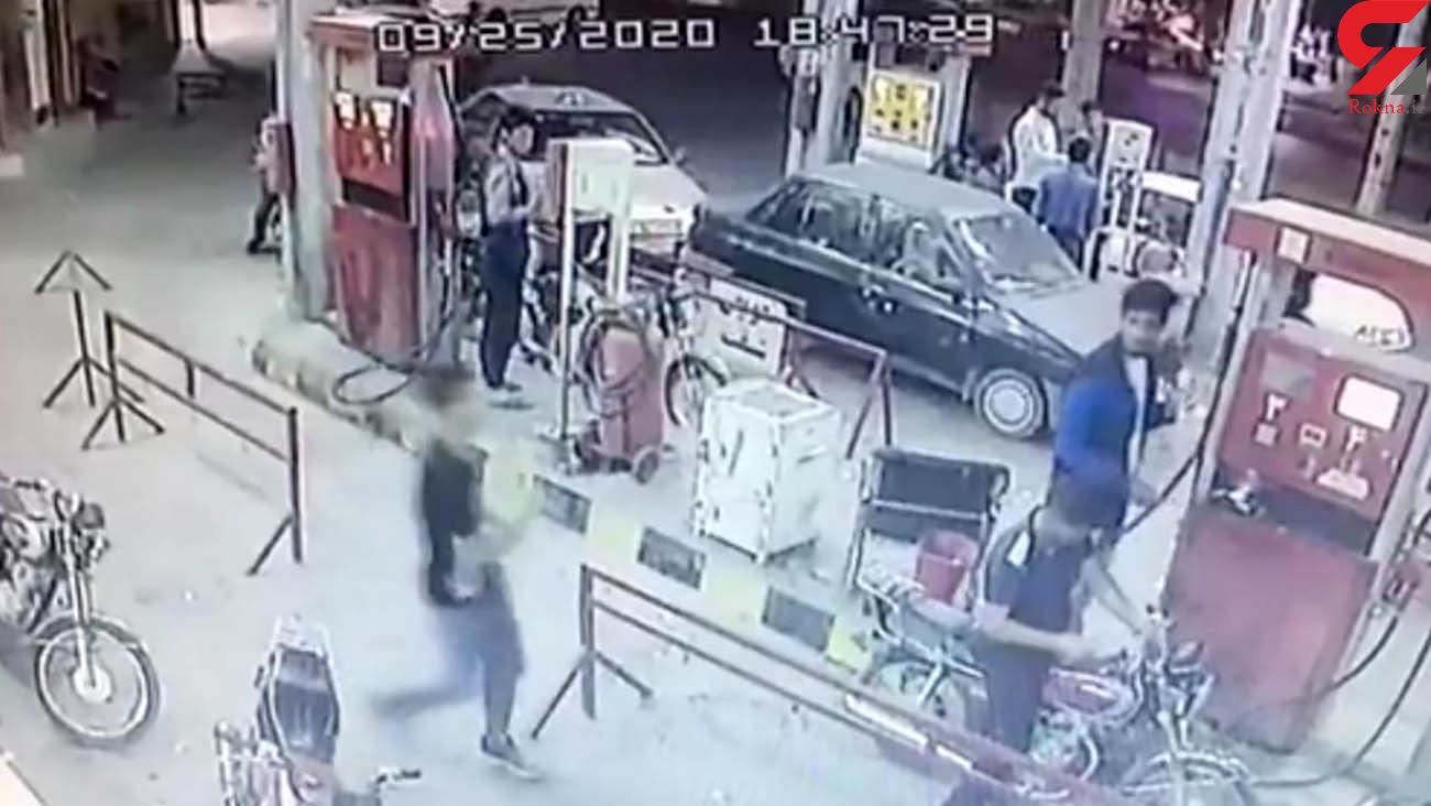 فیلم لحظه انفجار مرگبار پمپ بنزین تاکستان + آمار کشته ها