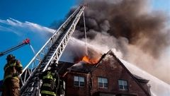 زنده ماندن مردی که خانه اش 5 روز سوخت!