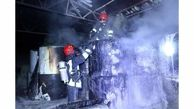 آتشسوزی مهیب کارخانه تولید ایزوگام / در مشهد رخ داد
