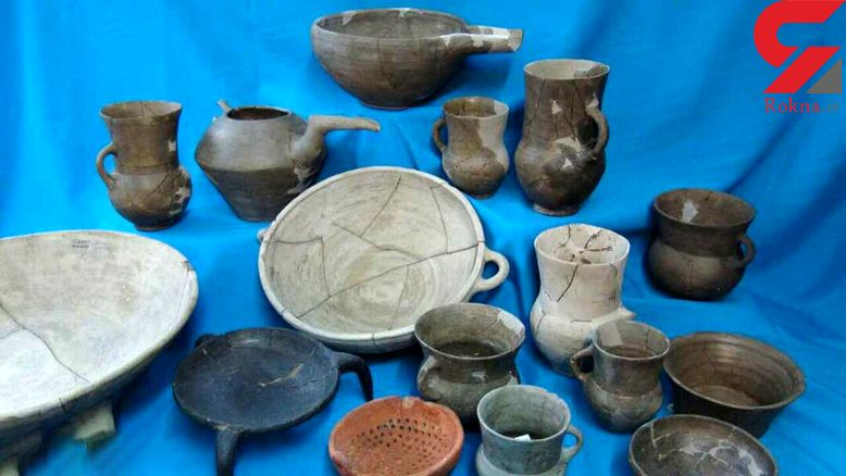 کشف اشیای تاریخی 7 هزار ساله در قرچک