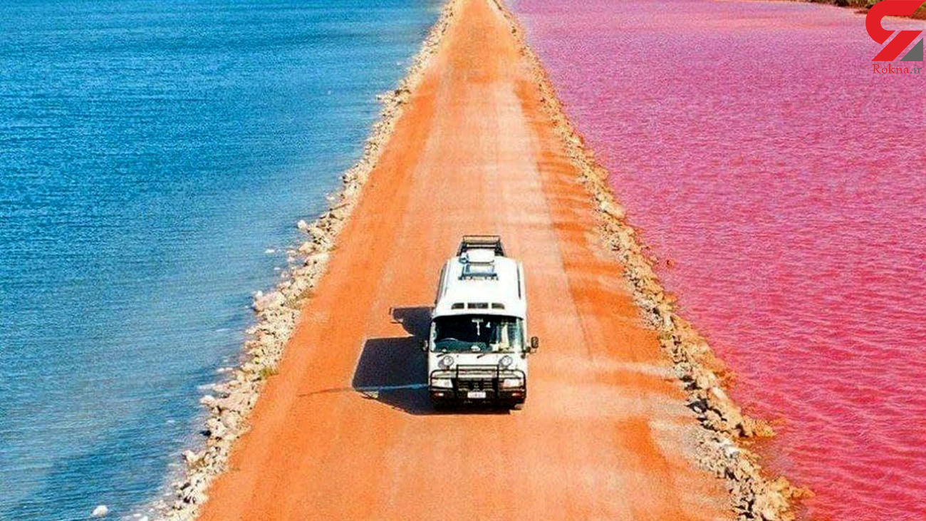 دریاچههای رنگی در استرالیا + عکس