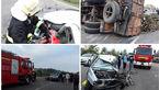 تصادف مرگبار کامیون در سراوان / جوان 23 ساله در پراید له شد + عکس