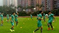 برگزاری دومین تمرین تیم ملی فوتبال زیر بارش سیلآسای هنگکنگ + عکس