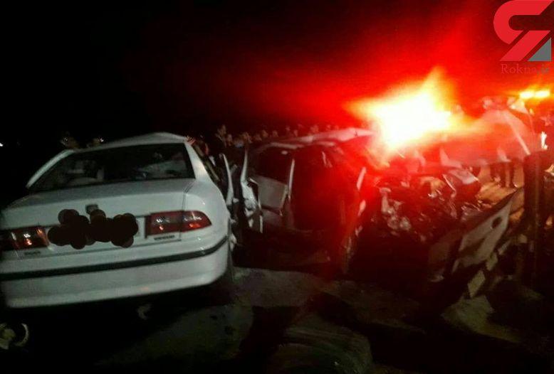حادثه ای مرگبار در فومن / تصادف زنجیره ای با 4 کشته و 5 مصدوم