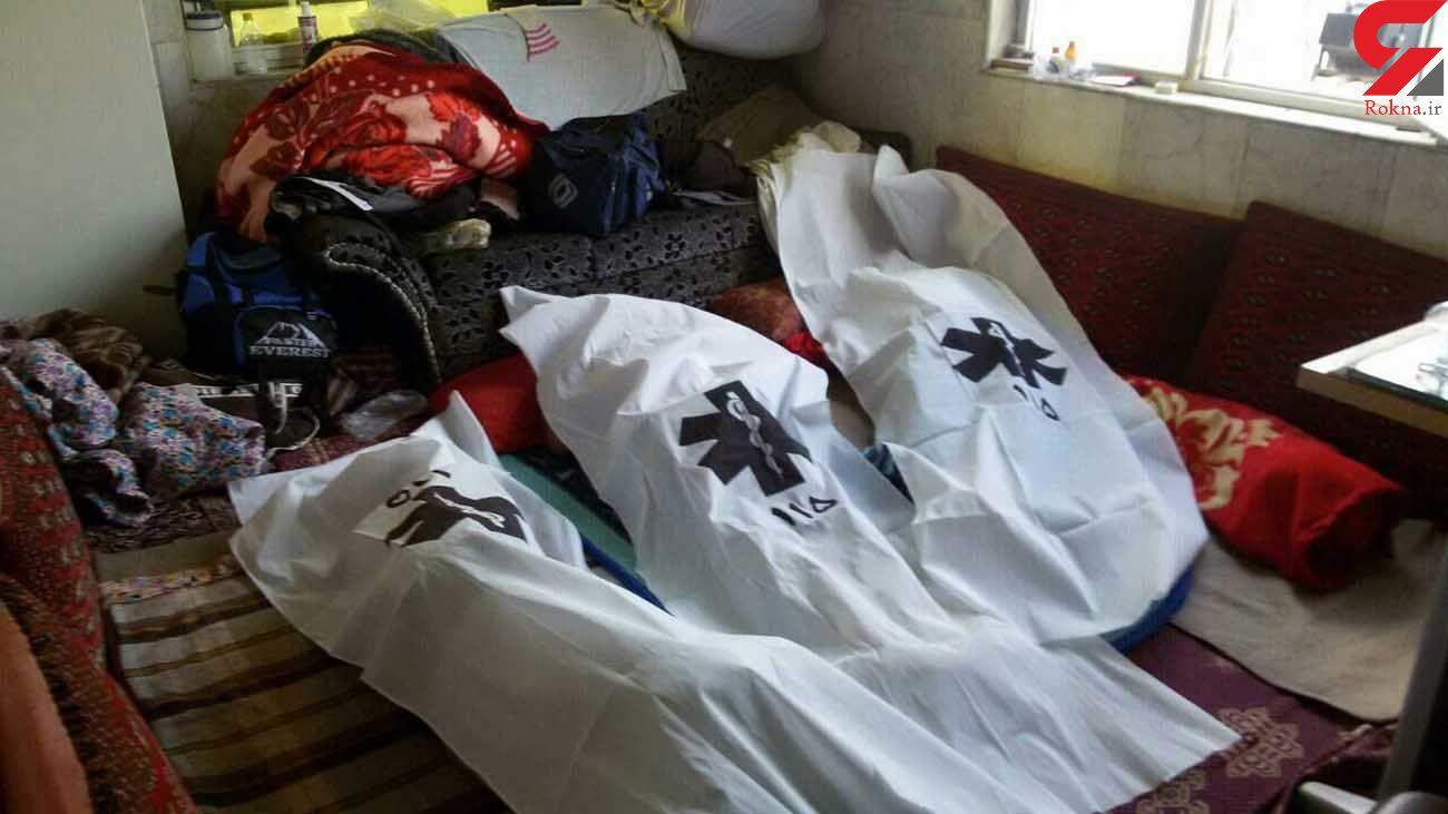 عکسی دردناک از اجساد 3 عضو خانواده اردبیلی / همه گریه کردند!