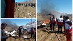 خبر ویژه / سقوط بالگرد اورژانس هوایی در شهرکرد + اولین عکس ها از بالگرد