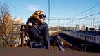 فیلم پرواز  دختر خفاشی بالای قطار شهری / این کار خارق العاده را حتما ببیند