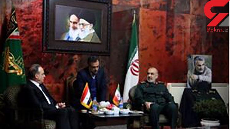 سرلشکر سلامی در دیدار با نخست وزیر سوریه: تا آخر کنار شما هستیم، میدان را ترک نمیکنیم