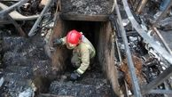 سوختن یک کارگاه کفاشی در میان شعله های آتش / در چهارراه گلوبندک رخ داد