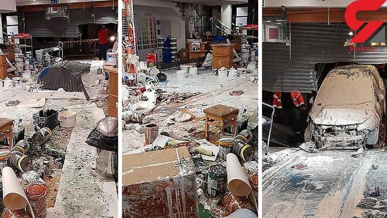 فاجعهای که راننده ایرلندی در فروشگاه رنگ به بار آورد + فیلم