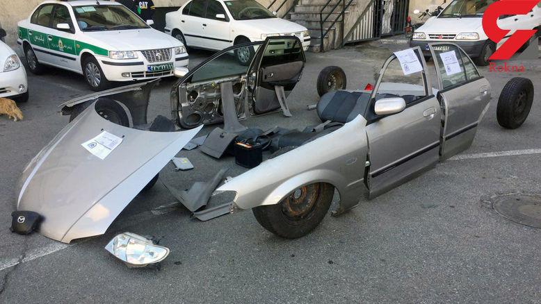 عکس و فیلم باورنکردنی از اوراق یک خودرو در تهران / پلیس وارد عمل شد