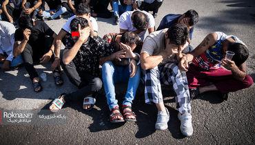عکس های انتشار نیافته مردان مخوف تهران با تتو های عجیب / پاتک پلیس به دخمه های مخوف