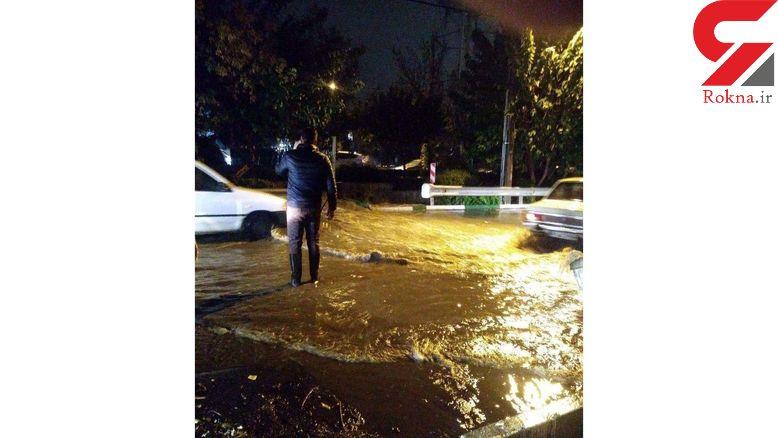 وحشت مردم از سیلاب پل ابوذر  در شب گذشته + عکس