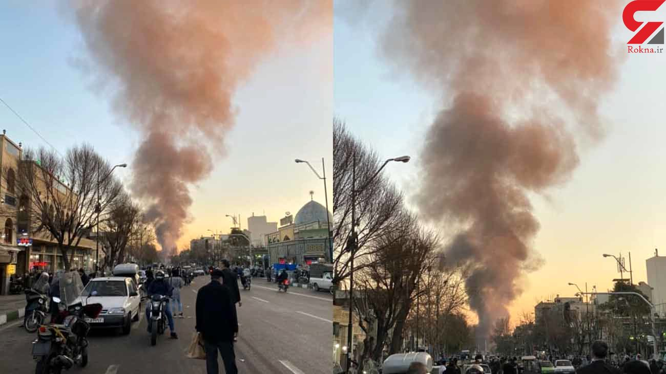 فیلم از 3 زاویه آتش سوزی بزرگ میدان شوش  + جزییات