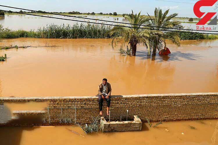 حبس اهالی 13  روستا در طغیان رودخانه های شهرستان سیریک