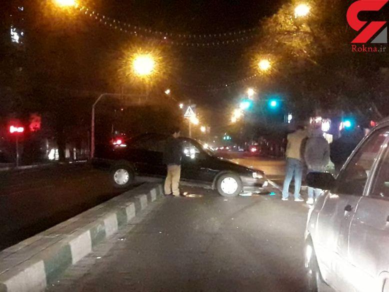 عجیب ترین عکس از یک تصادف در وسط خیابان شریعتی تهران