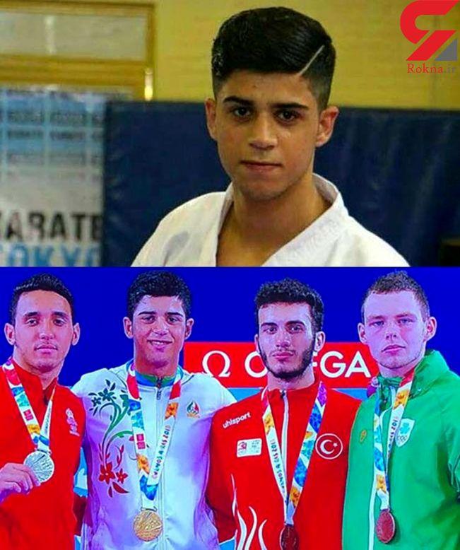 تصویر دلخراش از صحنه تصادف نوید محمدی جوان قهرمان کاراته المپیک +جزئیات حادثه امروز