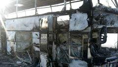 مرگ 70 نفر در غنا با تصادف دو اتوبوس+عکس
