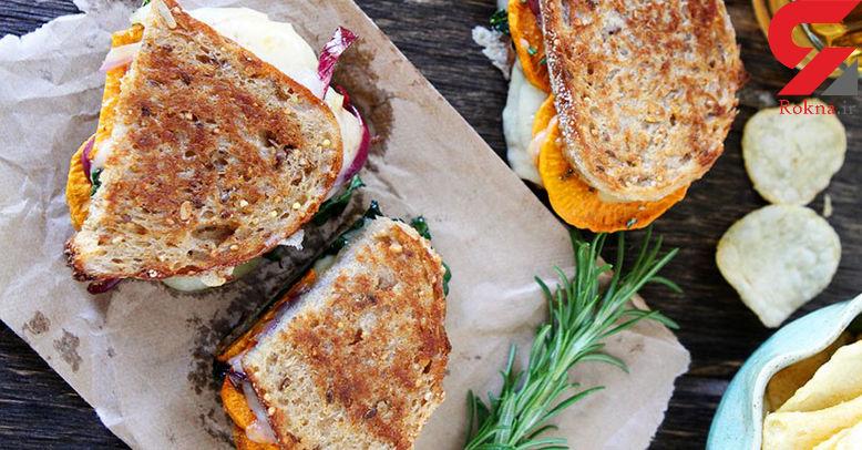 ساندویچ کلاب سبزیجات خانگی درست کنید+دستور تهیه