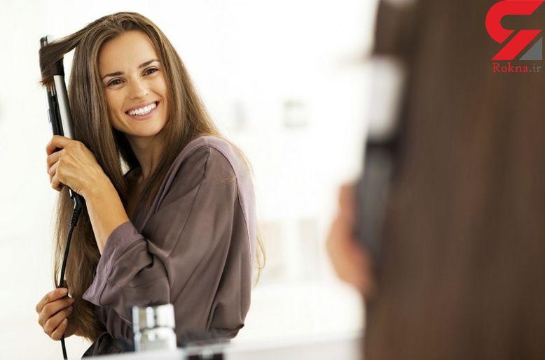 صاف کردن موهای فرفری با ساده ترین روش خانگی