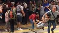صحنههای خشونتبار درگیری در یک فروشگاه لاکچری / در هنگ کنگ رخ داد + فیلم