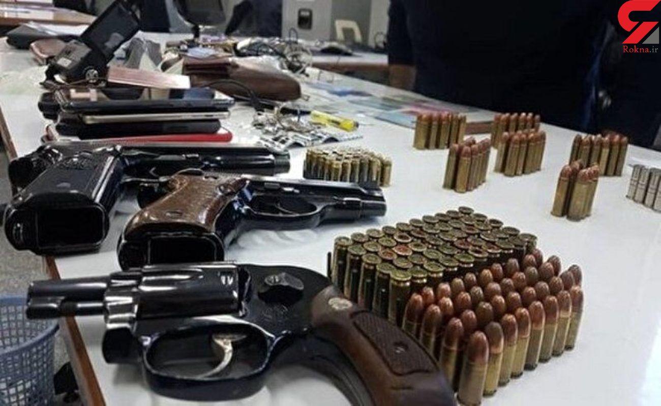 کشف ۲۴۶ قبضه اسلحه جنگی و شکاری در کرمانشاه