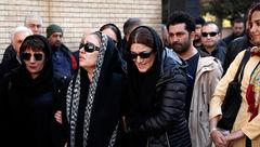 چهره پر از اشک زیبا بروفه در مراسم تشییع پیکر همسرش / حضور چهره های معروف +تصاویر
