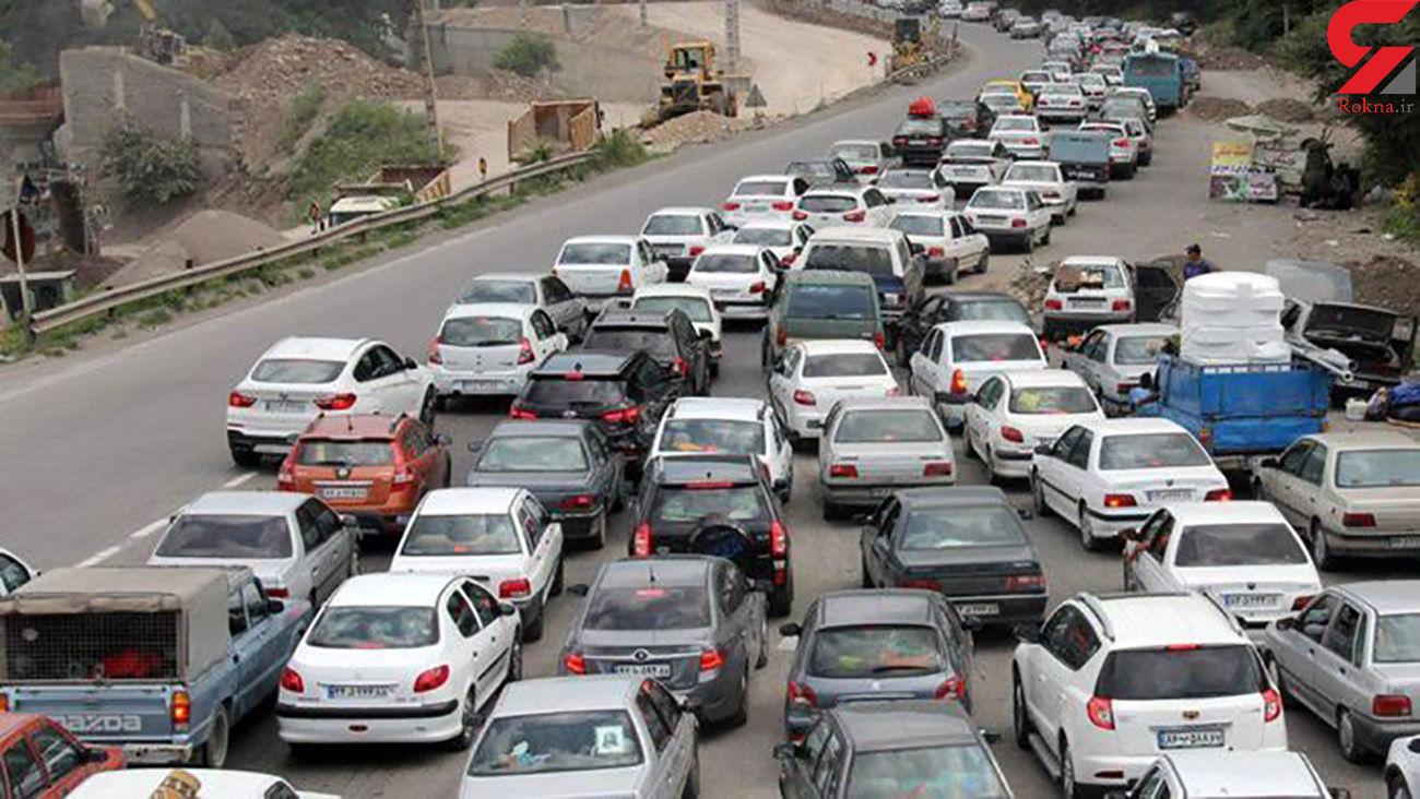 ترافیک سنگین در همه محورهای خروجی از تهران به سمت استان های شمالی