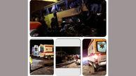واژگونی اتوبوس در سلفچگان حادثه آفرید + فیلم