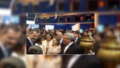 پادشاه و ملکه اسپانیا از یک غرفه ایرانی بازدید کردند