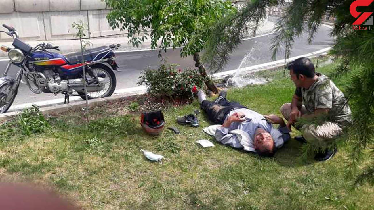 تصادف موتورسوار تهرانی با درخت/ در اتوبان امام علی رخ داد + عکس