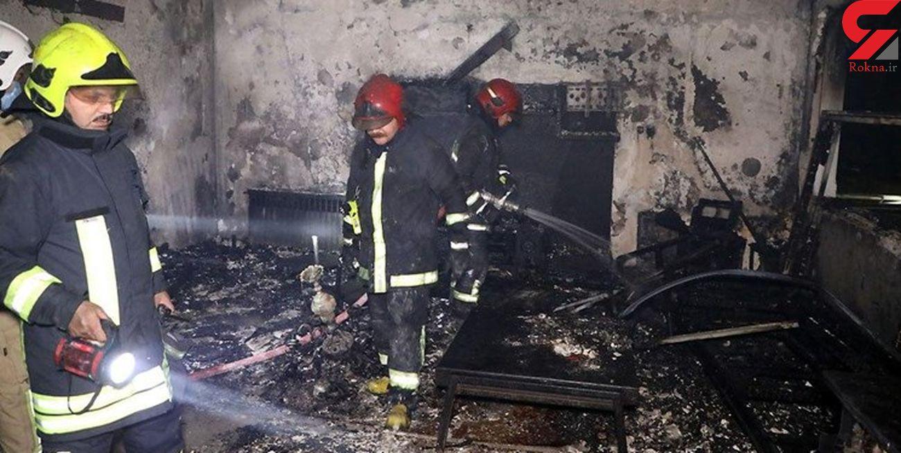 آتش سوزی هولناک در مجتمع مسکونی ارومیه با 2 مصدوم