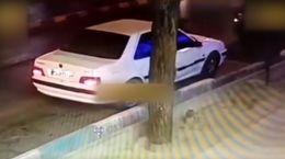 فیلم سرقت ماشین یک زن به سبک بازی GTA در یزد
