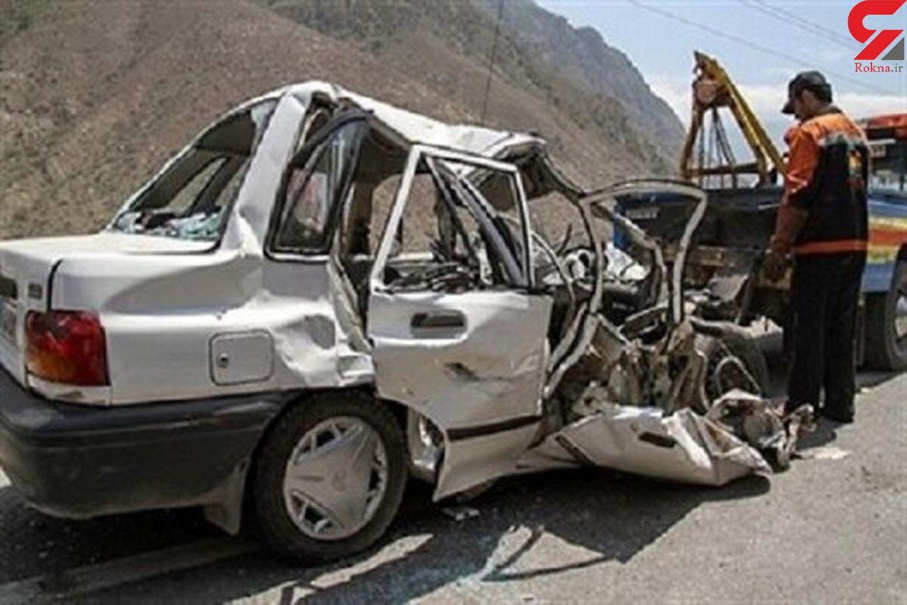 مصدومیت 10 نفر از فرهنگیان راز و جرگلانی طی وقوع تصادف