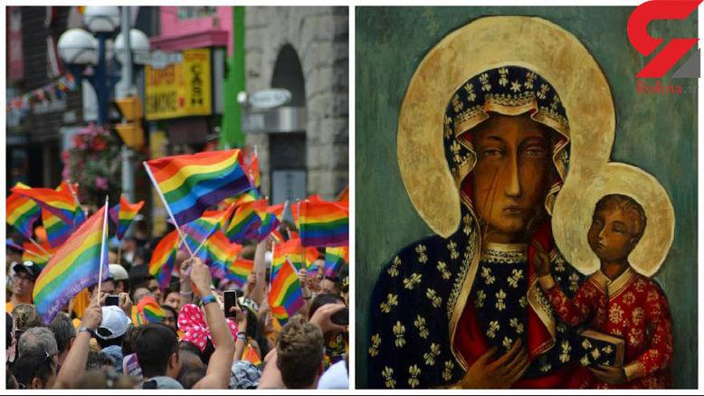 اقدام زشت زن لهستانی با تصویر مریم مقدس+عکس