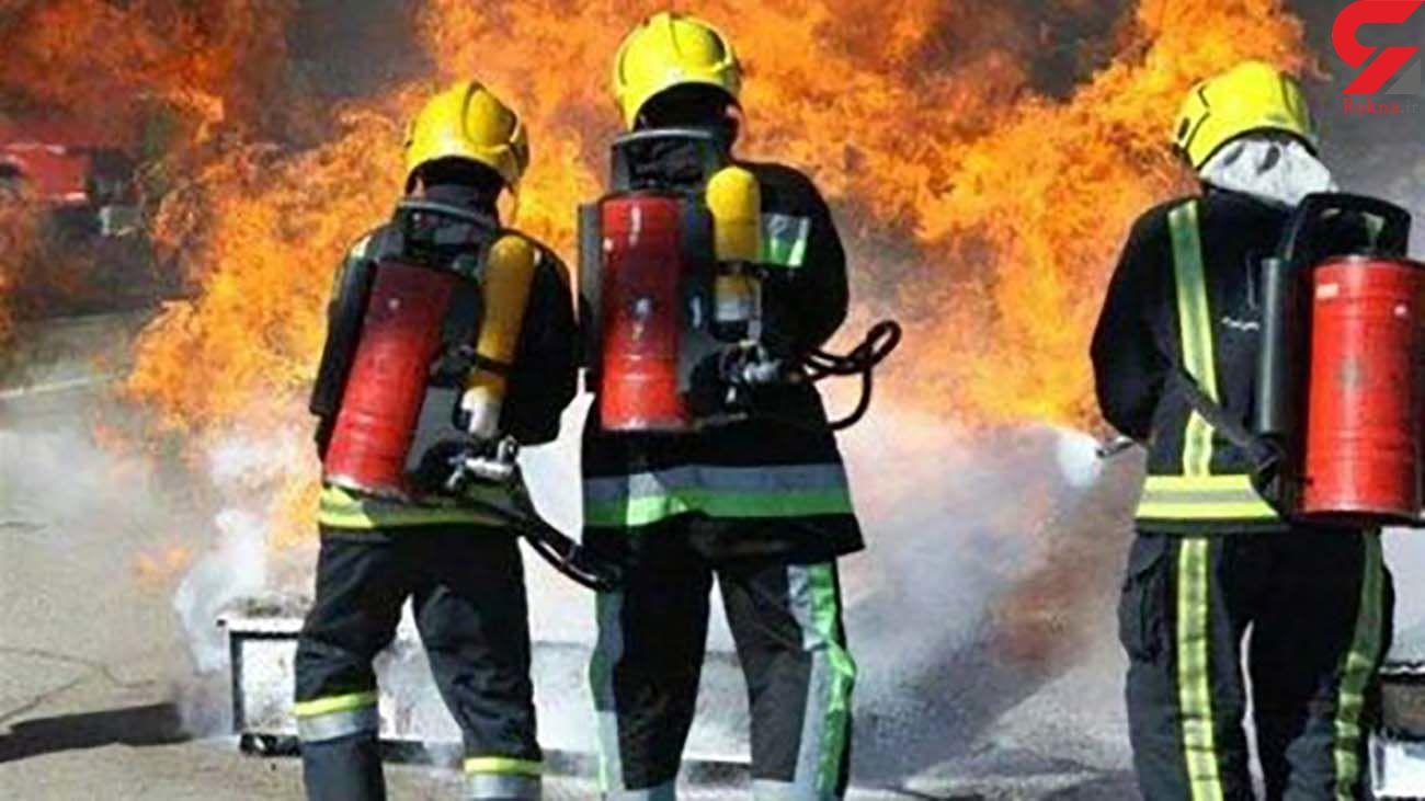 کارگران دامداری در آتش گرفتار شدند/ در اصفهان رخ داد
