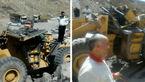 سقوط مرگبار راننده لودر از ارتفاع در منجیل + عکس
