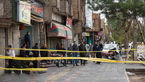 نشست آسفالت در خیابان مصطفی خمینی تهران
