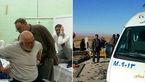 برخورد کامیون به زائران پیاده عراقی در جاده امام رضا (ع) +عکس