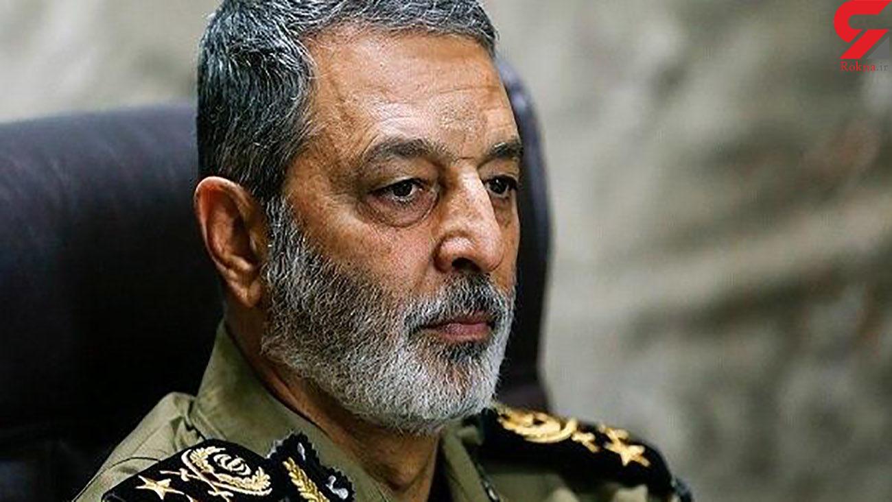 فرمانده کل ارتش : هر تهدیدی را منهدم میکنیم