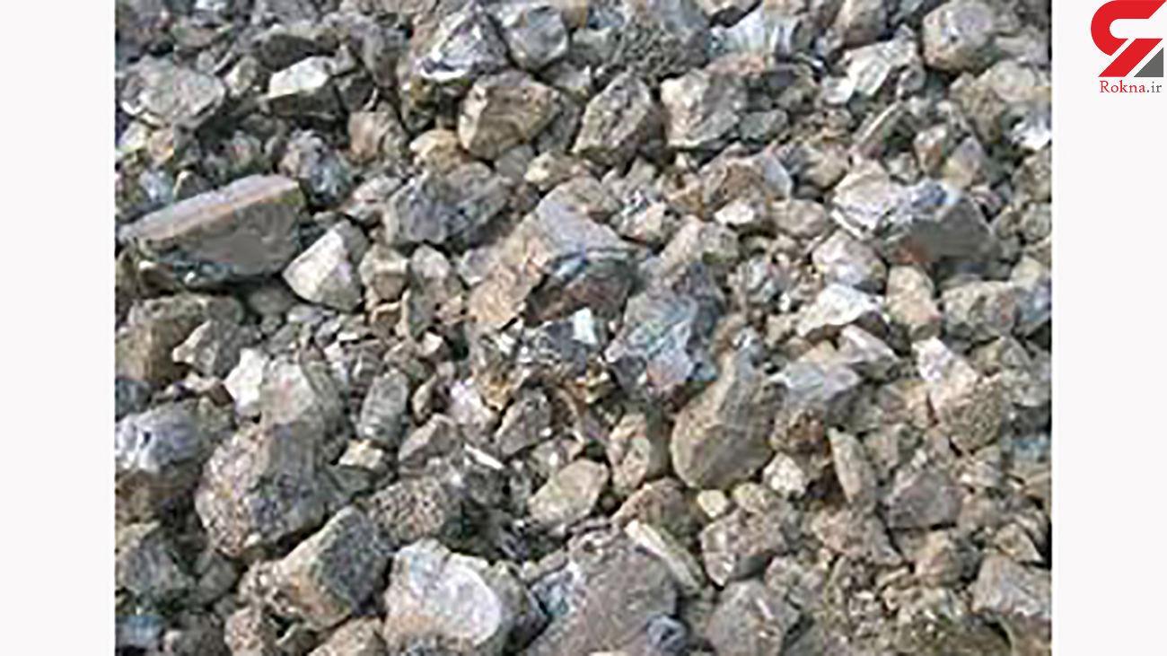 کشف 2 تن سنگ قاچاق از حفار غیرمجاز در خمین